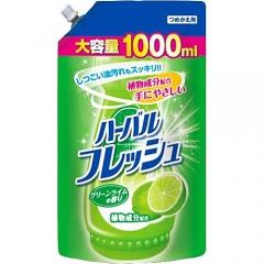 Mitsuei Средство для мытья посуды, овощей и фруктов с ароматом лайма (рефил) 1000мл