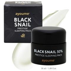 Ayoume Black Snail Prestige Sleeping Pack Ночная маска с муцином черной улитки 50мл
