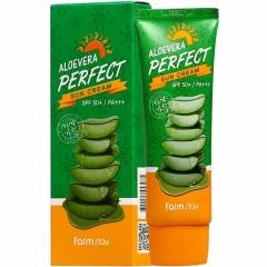 Farmstay Aloevera Perfect Sun Cream Солнцезащитный крем с алоэ SPF 50+/PA+++ 70г