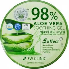 3W Clinic Aloe Vera Soothing Gel 98% Многофункциональный гель с алоэ вера 300г