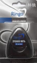 Ringo Зубная нить вощеная с углем и ароматом мяты 50м