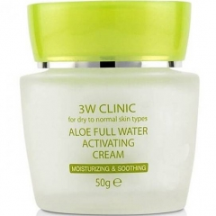 3W Clinic Aloe Full Water Activating Крем для лица с алоэ 50г