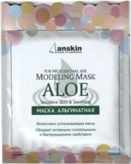 Anskin Aloe Modeling Mask Успокаивающая альгинатная маска с экстрактом Алоэ 25г