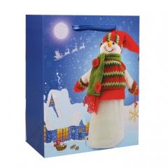 GiftPack Снеговик Пакет ламинированный, 18х23х10см