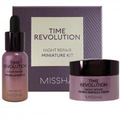 Missha Time Revolution Night Repair Probio Miniature Kit Набор: ночная сыворотка+крем 10мл+7мл