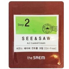The Saem See & Saw A.C Control Cream Крем для контроля чистоты и жирности кожи (тестер)