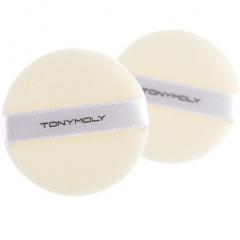 Tony Moly Flocking Puff Circle Спонж для нанесения макияжа 2шт