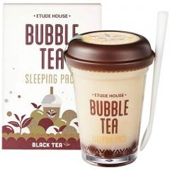 Etude House Bubble Tea Sleeping Pack Black Tea Ночная капсульная маска с экстрактом черного чая 100г