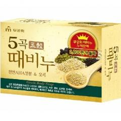 Mukunghwa Grain Body Soap Отшелушивающее и питающее мыло для тела с 5 злаками 100г