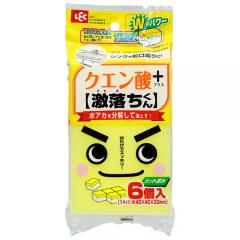 LEC Меламиновая губка с лимонной кислотой 40*40*30мм 6шт