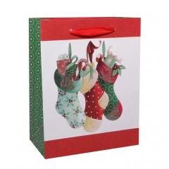 GiftPack Новогодние носочки Пакет ламинированный, 18х23х10см