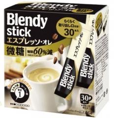 AGF Blendy Stick Coffee - Espresso Lightly Sugared Натуральный растворимый кофе 3-в-1 10г*30шт