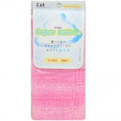 Kai Supper Bubble Мочалка для тела массажная (розовая) 30х100см (средней жесткости) 1шт