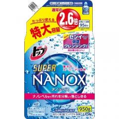 Lion Top Super Nanox Суперконцентрированный гель для стойких загрязнений (рефил) 950мл