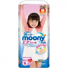 Moony Moony Man Подгузники-трусики для девочек XL (12-17 кг) 38шт