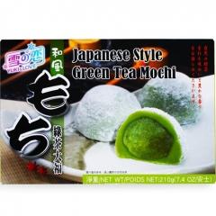 Daifuku Yuki & Love Green Tea Mochi Рисовые пирожные моти с чаем матча 210г