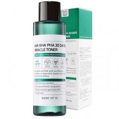 Some By Mi AHA-BHA-PHA 30 Days Miracle Toner Кислотный очищающий тоник для проблемной кожи 150мл