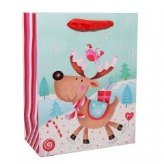 GiftPack Оленёнок с подарком Пакет ламинированный, 11х14х6см
