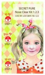 The Saem Secret Pure Nose Clear Kit 1-2-3 Трехступенчатая система удаления черных точек 1шт