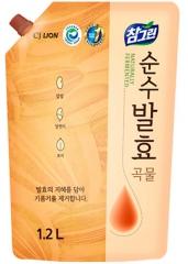 "CJ Lion Chamgreen Pure Fermentation Средство для мытья посуды ""5 злаков"" (рефил) 1.2л"