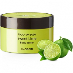 The Saem Touch On Body Sweet Lime Body Butter Увлажняющее масло-крем для тела с лаймом 200мл
