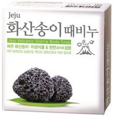 Mukunghwa Jeiu volcanic scoria scrab soap Скраб-мыло для тела с вулканической солью 100г