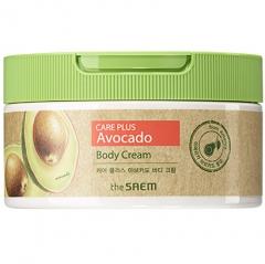 The Saem Care Plus Avocado Body Cream Насыщенный сливочный крем для тела с Авокадо 300мл