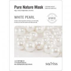 Anskin Secriss Pure Nature Mask Pack White pearl Маска для лица тканевая с жемчугом 25мл