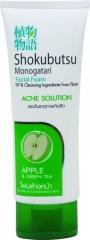 Lion Shokubutsu Acne Solution Пенка для лица с яблоком для контроля над жирным блеском 100г