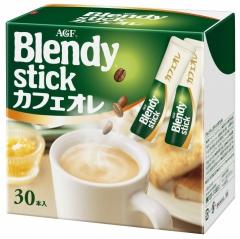 AGF Blendy Stick Coffee - Cafe Au Lait Растворимый кофе 3-в-1 с мягким вкусом 12г*30шт