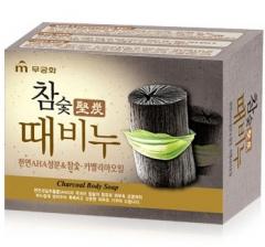Mukunghwa Hardwood Charcoal Scrub Soap Косметическое мыло-скраб (Древесный уголь) 100г