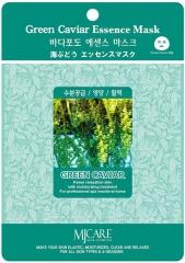 Mijin Green Caviar Essence Mask Тканевая маска для лица для упругости кожи с морским виноградом 23г