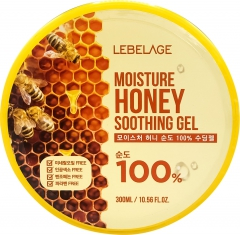 Lebelage Moisture Honey 100% Soothing Gel Увлажняющий гель с экстрактом мёда 300мл