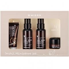 Mizon Snail Miniature Set Набор для ухода за кожей лица со слизью улитки 30мл/50мл/50мл/15г