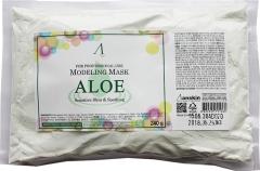 Anskin Aloe Modeling Mask Успокаивающая альгинатная маска с экстрактом Алоэ (рефил) 240г