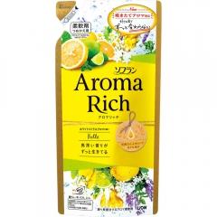 Lion Bell Aroma Rich Кондиционер для белья с ароматом цитрусов и жасмина (рефил) 400мл