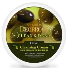 Deoproce Premium Clean & Deep Olive Cleansing Cream Крем для лица очищающий с экстрактом оливы 300г