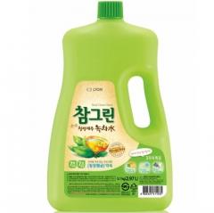 CJ Lion Chamgreen Green Tea Средство для мытья посуды и овощей с ароматом зеленого чая 2970мл
