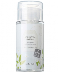 The Saem Healing Tea Garden White Tea Lip&Eyes Remover Жидкость для снятия макияжа с глаз и губ с бе