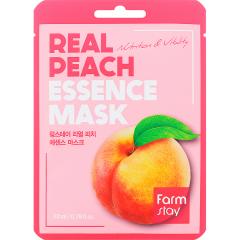 Farmstay Real Peach Essence Mask Тканевая маска для лица с экстрактом персика 23мл