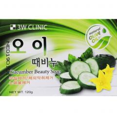 3W Clinic Cucumber Beauty Soap Мыло кусковое с экстрактом огурца 120г