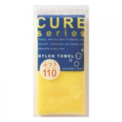Ohe Corporation Cure Nylon Towel Regular Yellow Мочалка для тела 28х100см (средней жесткости) 1шт