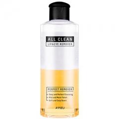 A'pieu All Clean Lip and Eye Remover Жидкость для снятия макияжа с глаз и губ с календулой 160мл