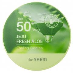 The Saem Jeju Fresh Aloe Cooling Cushion Кушон охлаждающий SPF50+PA+++ (Natural Baige) 1шт