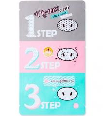 Holika Holika Pig-nose Clear Black Head 3-step Kit Набор для очищения пор и черных точек 1шт