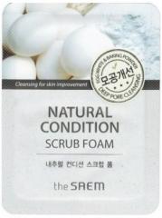 The Saem Natural Condition Scrub Foam Пенка-скраб с яичным белком и содой (тестер)