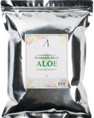 Anskin Aloe Modeling Mask Успокаивающая альгинатная маска с экстрактом Алоэ (рефил) 1кг