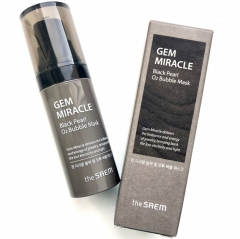 The Saem Gem Miracle Blacl Pearl O2 Bubble Mask Маска кислородная с экстрактом жемчуга 10мл