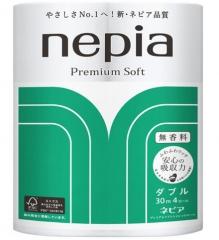 Nepia Premium Soft Двухслойная супермягкая туалетная бумага без аромата 30м*4шт