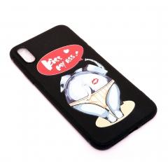 Чехол для iPhone X DLED Слон Kiss My Ass